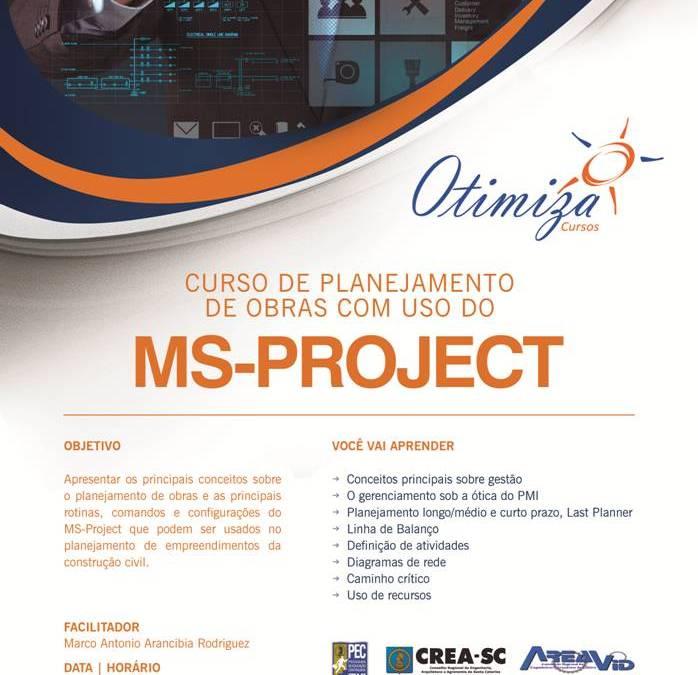 Curso de Planejamento de Obras – MS Project