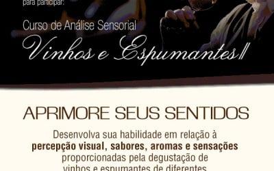AREAVID promove curso de Análise Sensorial de Vinhos e Espumantes II de 20 a 22 de agosto