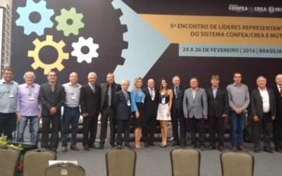 Associação de Engenheiros e Arquitetos de Videira leva representantes para o Encontro de Líderes ligados ao Sistema Confea/Crea/ Mutua