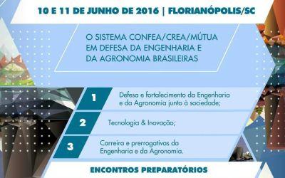 Presidente da Areavid coordena o 12º Congresso de Profissionais da Engenharia e Agronomia de SC