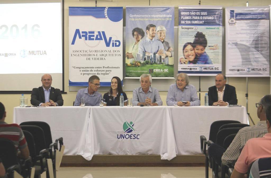 Videira sediou o 1º Encontro de Engenheiros e Agrônomos da Região