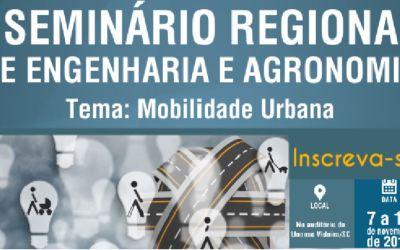 Mobilidade Urbana será tema do 1º Seminário Regional de Engenharia e Agronomia