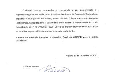 Edital de Convocação Assembleia Geral Solene