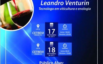 Curso de Análise Sensorial de Vinhos  acontece nos dias 17 e 18
