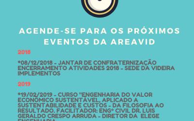 Agenda próximos eventos AREAVID