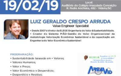 Curso de Engenharia de valor econômico sustentável acontece em fevereiro