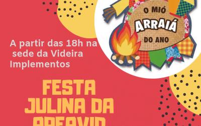 Festa Julina da AREAVID será no dia 13
